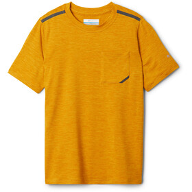 Columbia Tech Trek T-shirt Jongens, bright gold heather
